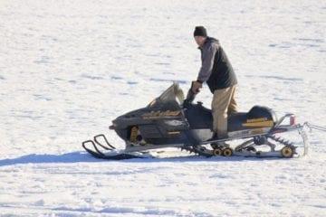 Winter Carnival Cameron Lake 4 Snowmobile