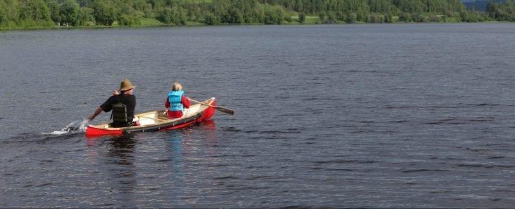 Canoe on Cameron lake