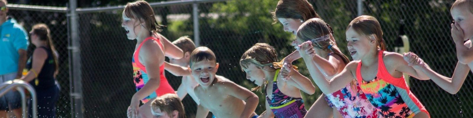 kids jumping pool