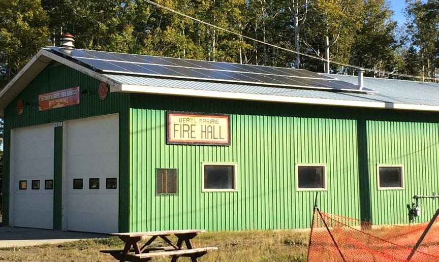 Beryl Prairie Fire Hall Solar Array
